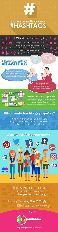 Hashtags Infographics Lollipop Digital Media