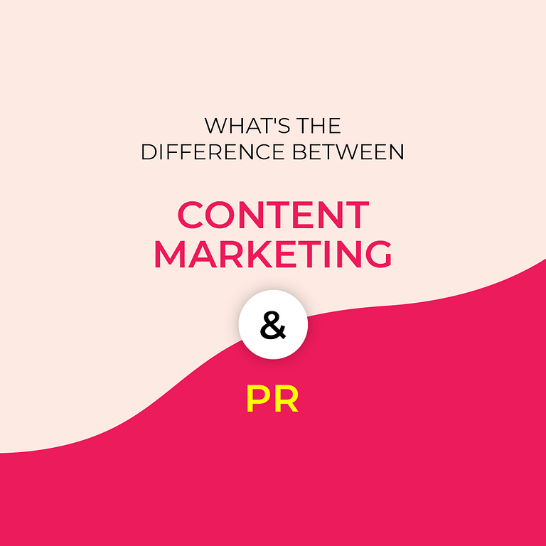 The Difference Between Content Marketing and PR