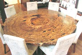 marri burl table