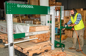 Aussie Crates cutting timber pack saw service