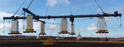 Fugro Foam Blocks under rig